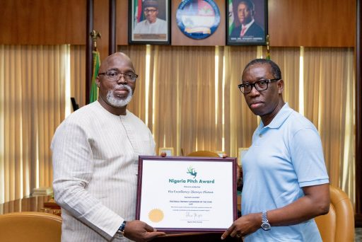 Pitch award: Okowa presented with Football Friendly Governor award