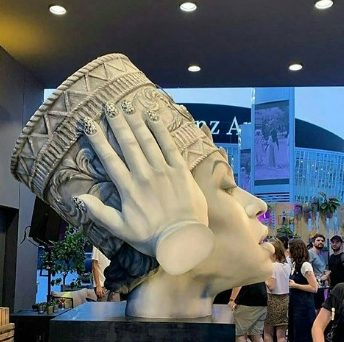 A giant Beyonce's bust unveiled in Berlin Germany
