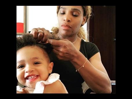 Serena Williams braids daughter's hair, speaks about African bonding
