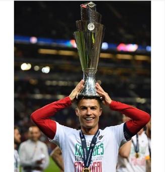 Cristiano Ronaldo shows off his achievements of 2018/2019 season