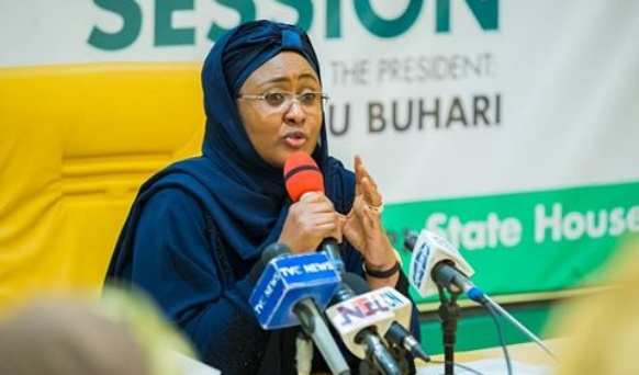 PHOTO: Mrs Aisha Buhari adopts First Lady title