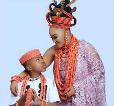 Mercy Aigbe shares adorable photos to celebrate son's 9th birthday