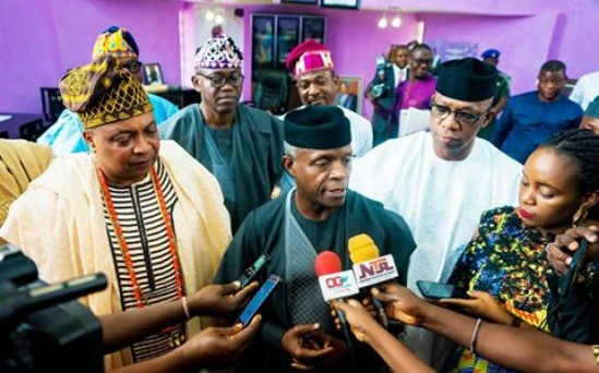 Security challenges: Osinbajo meets Gov Abiodun, Oba Adetona in Ogun State