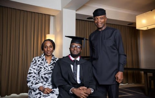 Mrs Dolapo Osinbajo celebrates son on graduation