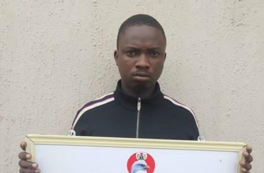 EFCC nabs one Okohwan Kelvin a notorious Facebookhacker
