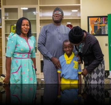 Gov Fayemi fulfills promise to schoolboy,invites him to his office