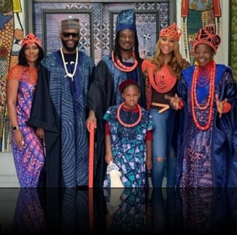Tamar Braxton wears African Traditional attire as she visits Nigeria