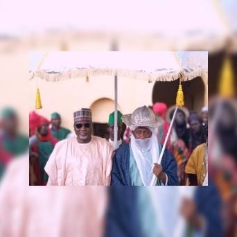 Ganduje rejoices with Emir of Karaye Emirate over Eid-Kabir Festival