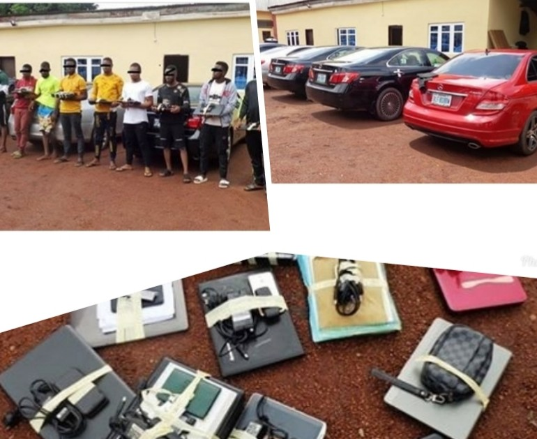 EFCC arrests 13 suspected Yahoo-yahoo Boys in Maryland, Enugu