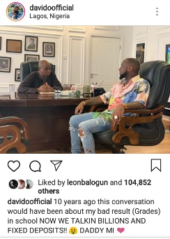 Davido shares inspiring story about his father and himself
