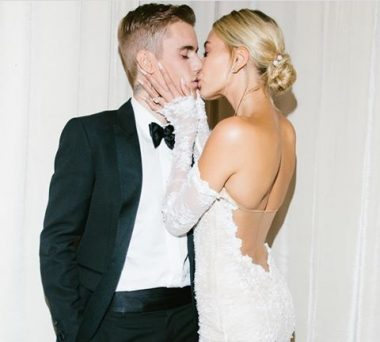 Hailey Bieber shares photos of her wedding dress designed by Abloh