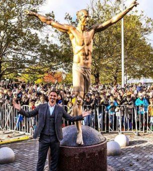 Zlatan Ibrahimovic Honoured With A Statue By Hometown, Malmo