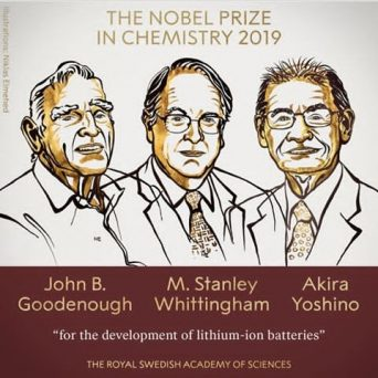 Breaking: Three Scientists win The Nobel Prize In Chemistry For 2019