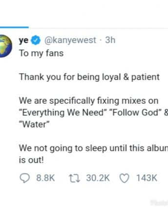 Kanye West delays the release of his 'Jesus Is King' Album again!