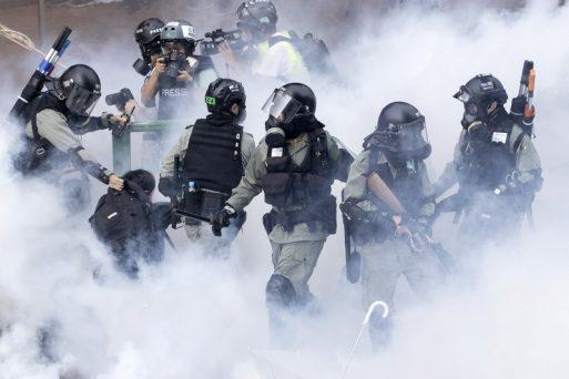 Hong Kong Police Battle Protesters At A University Campus
