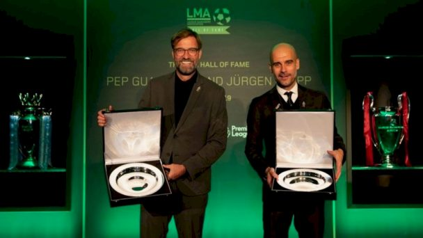 Klopp And Guardiola Inducted Into The LMA Hall Of Fame