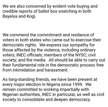 EU Missions confirms widespread violence in Kogi, Bayelsa elections