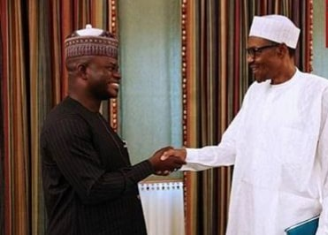 Buhari Congratulates Governor Yahaya Bello On His Re-Election
