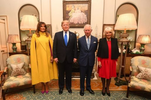 Trump, Melania Greeted By Charles and Camilla at Clarence House