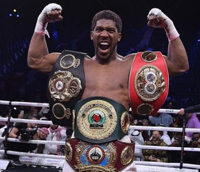Anthony Joshua To Present His Boxing Championship Belts To Buhari