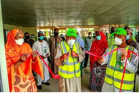 COVID-19: Ganduje Launches Female-Only Isolation Centre