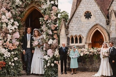 Princess Beatrice S Wedding Royal Family Shares First Photos