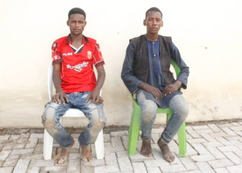 Police Parade Trans-national Kidnappers Of Rescued U.S Citizen