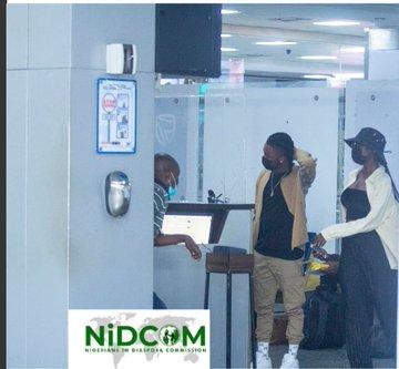 Omah Lay, Tems And Muyiwa Return To Nigeria From Uganda