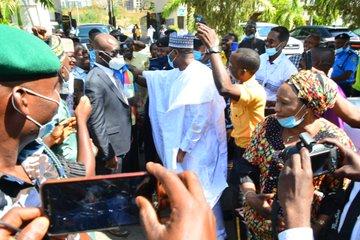 Prof. Mahmood Receives A Warm Welcome At INEC Headquarters
