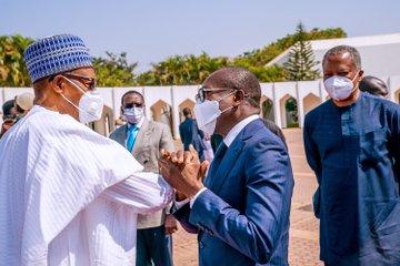 Buhari Receives President Patrice Talon Of Benin Republic In Abuja