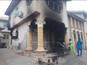 Sunday Igboho's House Razed By Suspected Arsonists