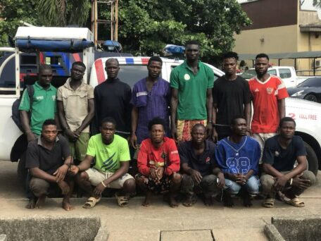 Police Parade 13 Suspected Traffic Robbers In Lagos