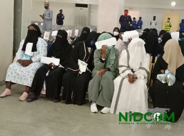 802 Nigerians Return To Nigeria From Saudi Arabia