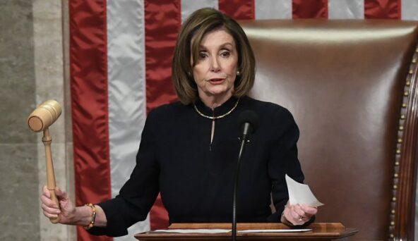 Speaker Nancy Pelosi Signs Article Of Impeachment Against Trump