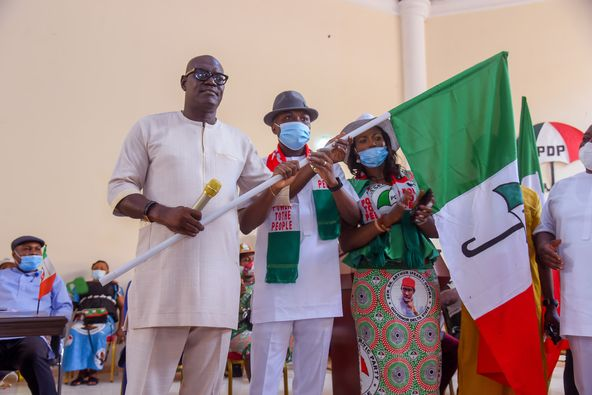 Flag Presentation: Tidi Thanks Gov. Okowa, PDP, Others