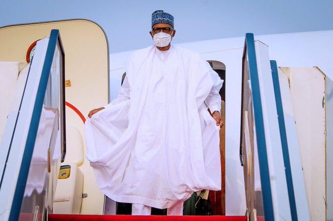 Buhari Returns To Abuja After A 4-Day Visit To Daura
