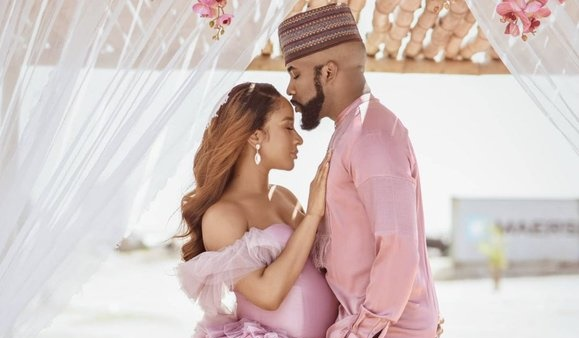 Zaiah: Banky W And Adesua Welcome First Child