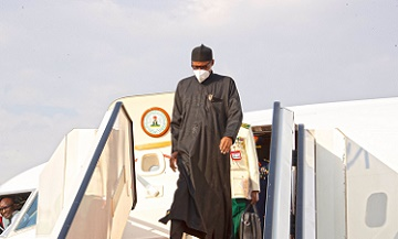 President Buhari Returns From Routine Medical Trip Abroad