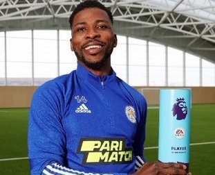 Kelechi Iheanacho Wins EPL Player Of The Month Award