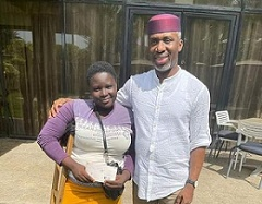 Amputee Lady Hawker Presented With N1m Cheque By Okorocha Son-In-Law