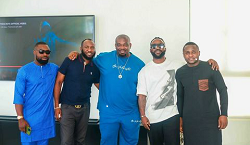 Iyanya And Ubi Franklin Pay 'Thank You' Visit To Don Jazzy