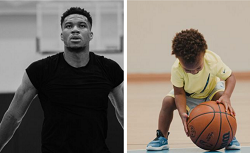 Giannis Antetokounmpo And Son Have A Practice Session